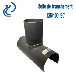 Selle de Branchement 125x100 à 90° PVC à coller