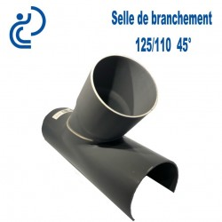 Selle de Branchement 125x110 à 45° PVC à coller