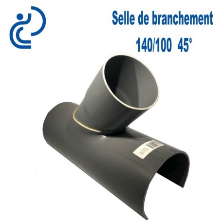 Selle de Branchement 140x100 à 45° PVC à coller