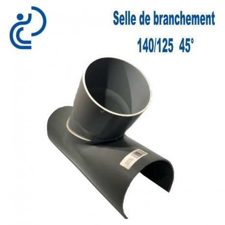 Selle de Branchement 140x125 à 45° PVC à coller