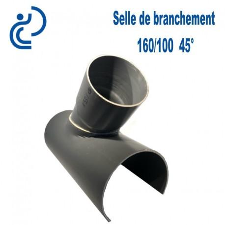 Selle de Branchement 160x100 à 45° PVC à coller