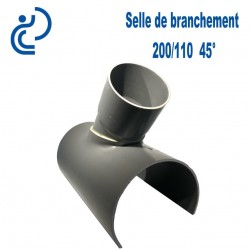 Selle de Branchement 200x110 à 45° PVC à coller