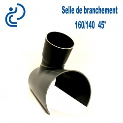 Selle de Branchement 160x140 à 45° PVC à coller
