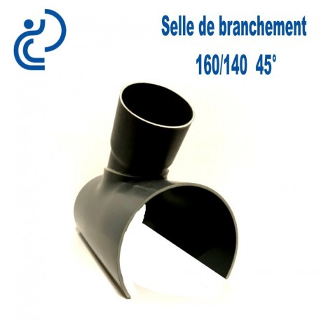 Selle de Branchement 160x140 à 45° PVC à coller