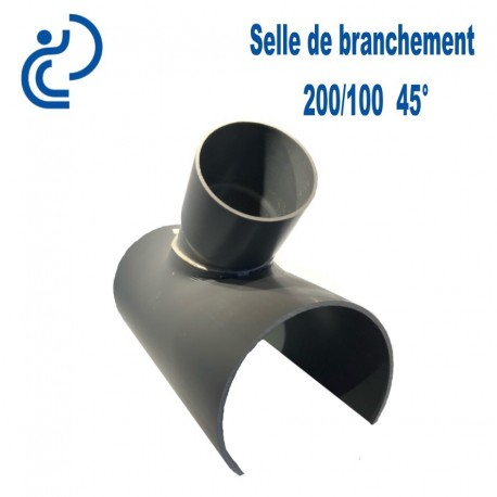 Selle de Branchement 200x100 à 45° PVC à coller