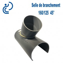 Selle de Branchement 160x125 à 45° PVC à coller
