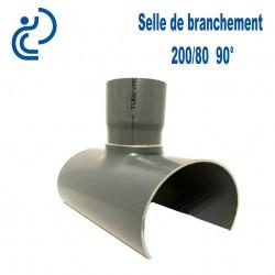 Selle de Branchement 200x80 à 90° PVC à coller