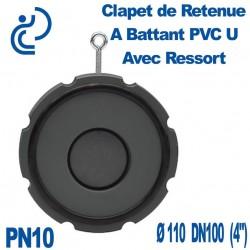 Clapet de Retenue A Battant PVC-U avec ressort Ø110 DN100 PN10