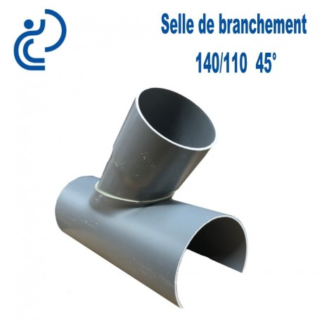 Selle de Branchement 140x110 à 45° PVC à coller
