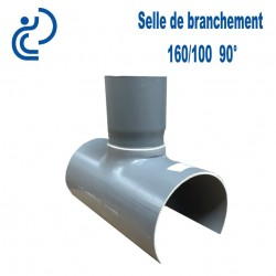 Selle de Branchement 160x100 à 90° PVC à coller