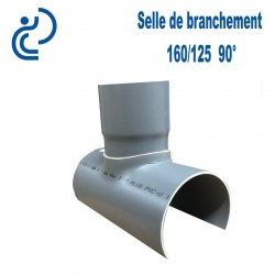 Selle de Branchement 160x125 à 90° PVC à coller