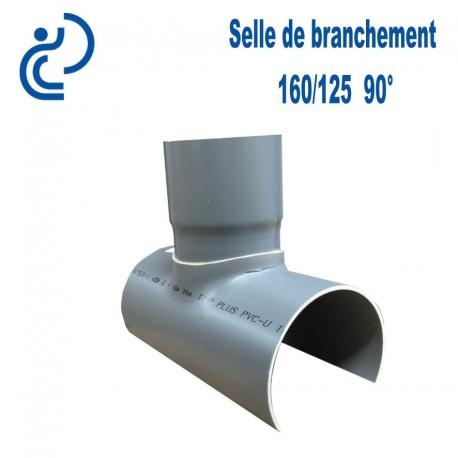 Selle de Branchement 160x125 à 90° PVC à coller