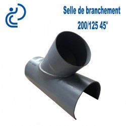 Selle de Branchement 200x125 à 45° PVC à coller