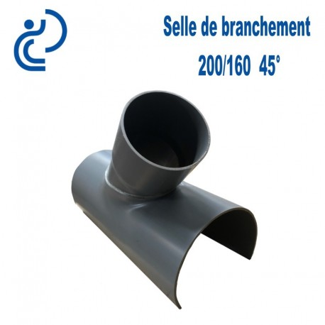 Selle de Branchement 200x160 à 45° PVC à coller