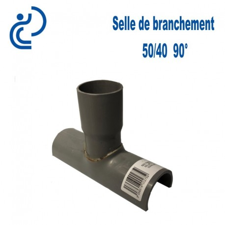 Selle de Branchement 50x40 à 90° PVC à coller