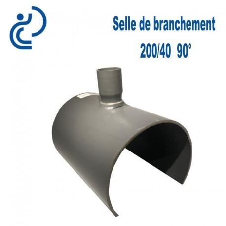 Selle de Branchement 200x40 à 90° PVC à coller