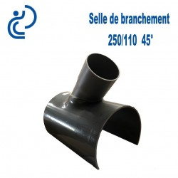 Selle de Branchement 250x110 à 45° PVC à coller