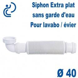 "Siphon extra plat sans garde d'eau 40x1""1/2 SENZO"