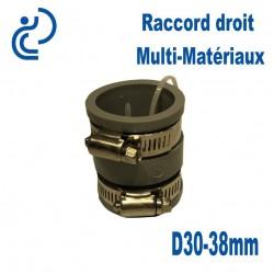 Raccord Droit Multi-Matériaux 30-38mm