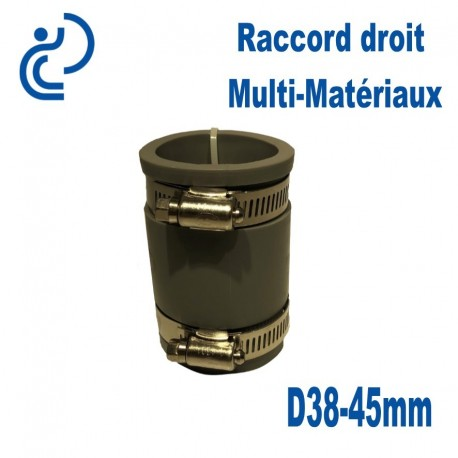 Raccord Droit Multi-Matériaux 38-45mm
