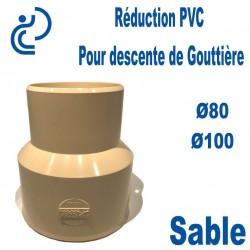 Réduction pour Descente de Gouttière PVC 80/100 MF Sable
