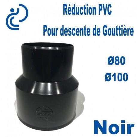 Réduction pour Descente de Gouttière PVC 80/100 MF Noir