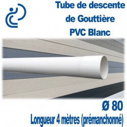 TUBE DESCENTE GOUTTIERE PVC D80