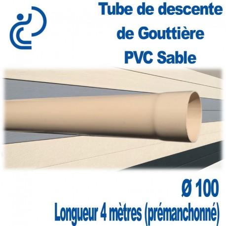 TUBE DESCENTE GOUTTIERE PVC D100 longueur de 4ml