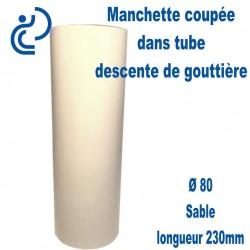 Manchette PVC Sable Ø80 longueur 230mm