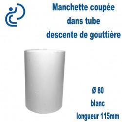 Manchette PVC Blanc Ø80 longueur 115mm