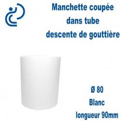 Manchette PVC Blanc Ø80 longueur 90mm