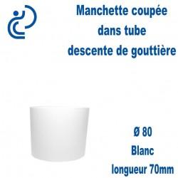 Manchette PVC Blanc Ø80 longueur 70mm