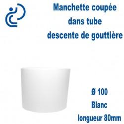Manchette PVC Blanc Ø100 longueur 80mm