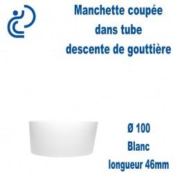 Manchette PVC Blanc Ø100 longueur 46mm