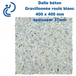 Dalle Béton Gravillonnée blanche 400x400 ep37