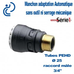 "RACCORD SERIE1 MALE D25X3/4"" filtage laiton"