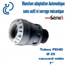 "RACCORD SERIE1 MALE D25X1"" filtage PP"