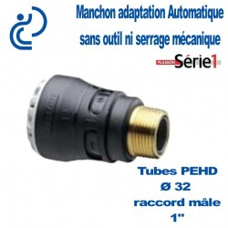 "RACCORD SERIE1 MALE D32X1"" filtage laiton"
