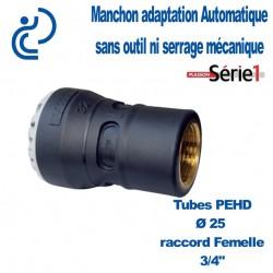 "RACCORD SERIE1 FEMELLE D25X3/4"" taraudage laiton"