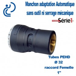 "RACCORD SERIE1 FEMELLE D32X1"" taraudage laiton"