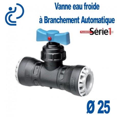vanne eau froide fixation automatique d25