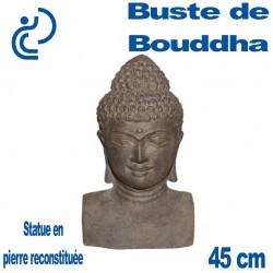 Statue Pierre Reconstituée Buste de Bouddha 31cm