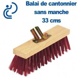 Balai de Cantonnier 33 cms sans manche / douille métal