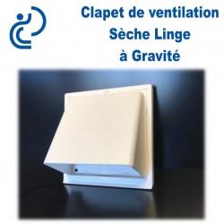 Clapet Sèche Linge à Gravité PVC Blanc 15x15