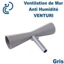 Ventilation de Mur Anti Humidité VENTURI PVC Gris