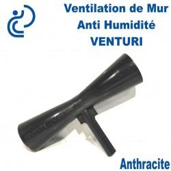 Ventilation de Mur Anti Humidité VENTURI PVC Anthracite