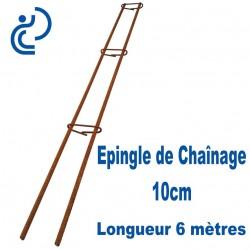Épingle de Chaînage 10cm Fer Torsadé Ø10 Longueur 6 mètres