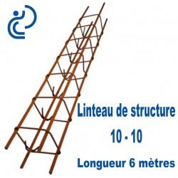 Linteau de Structure Quadrangulaire 10-10 Longueur 6 mètres