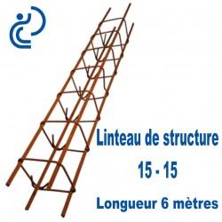Linteau de Structure Quadrangulaire 15-15 Longueur 6 mètres
