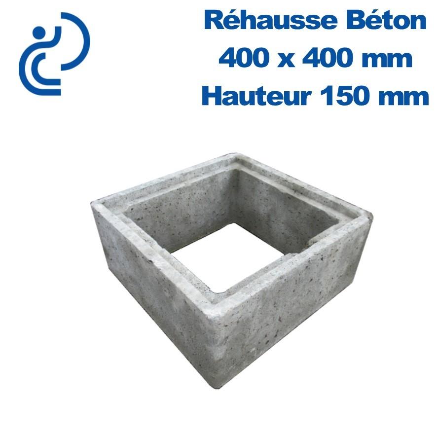 Rehausse Béton 40x40 Intérieur Hauteur 15